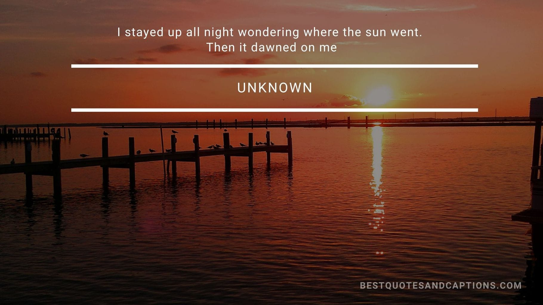 Funny sunset quote