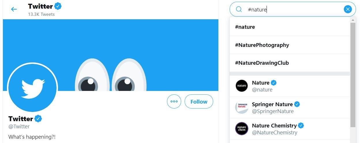 Nature Hashtags - Twitter Search