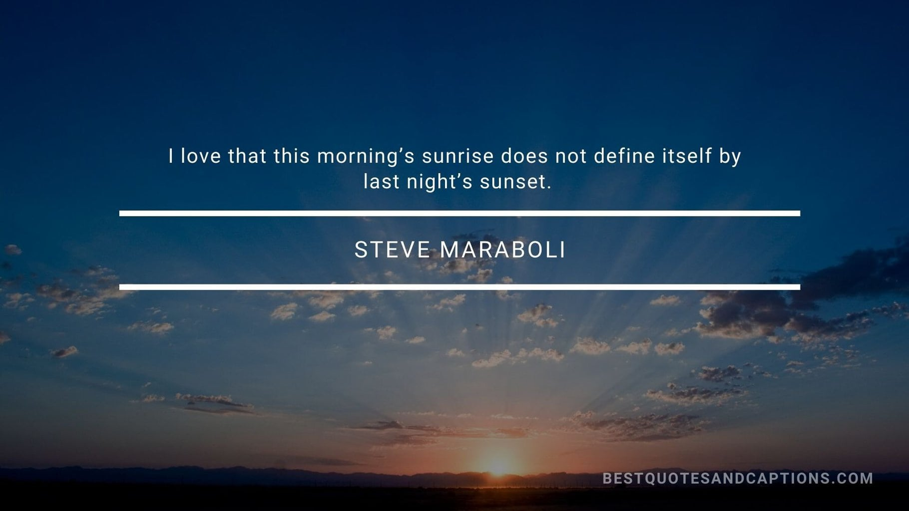 Quote about sunrise