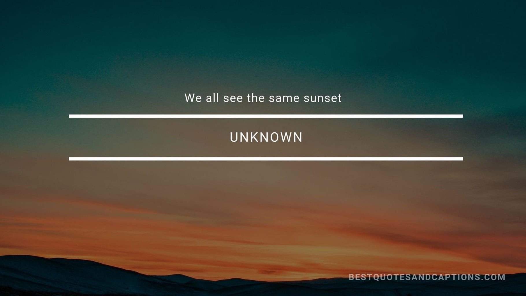 Sunset quotes - short