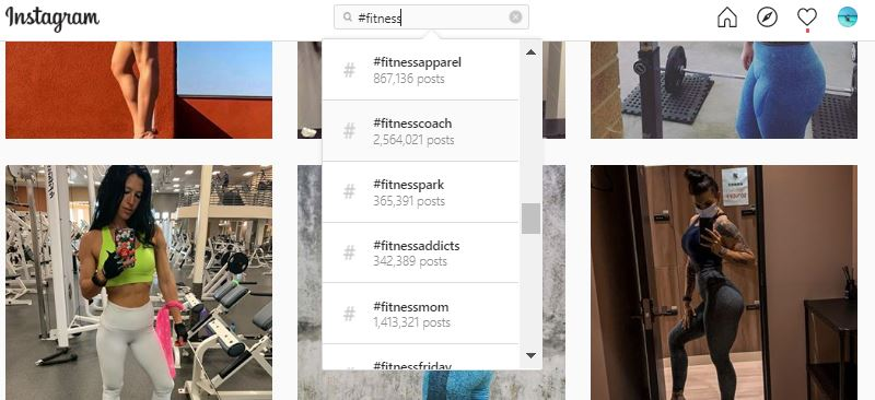 Fitness hashtags - Instagram Search