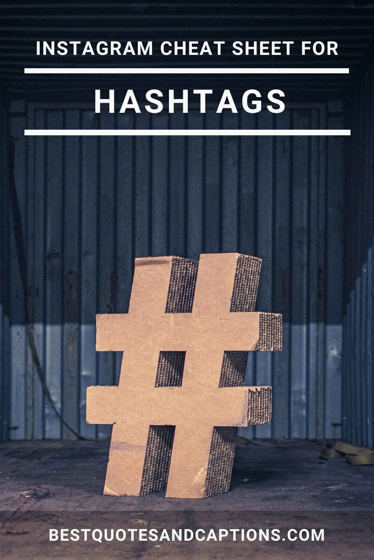 Instagram Hashtags Cheat Sheet