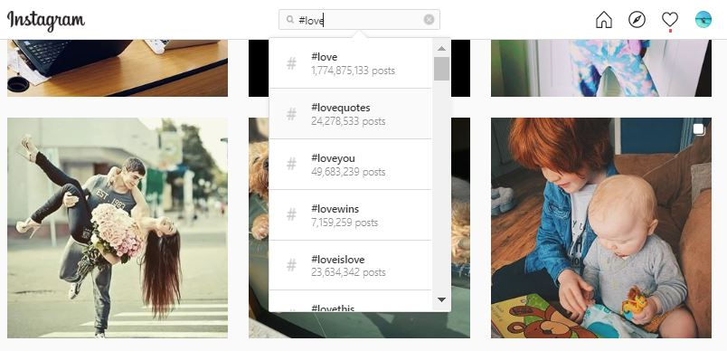 Love Hashtags - Instagram Search