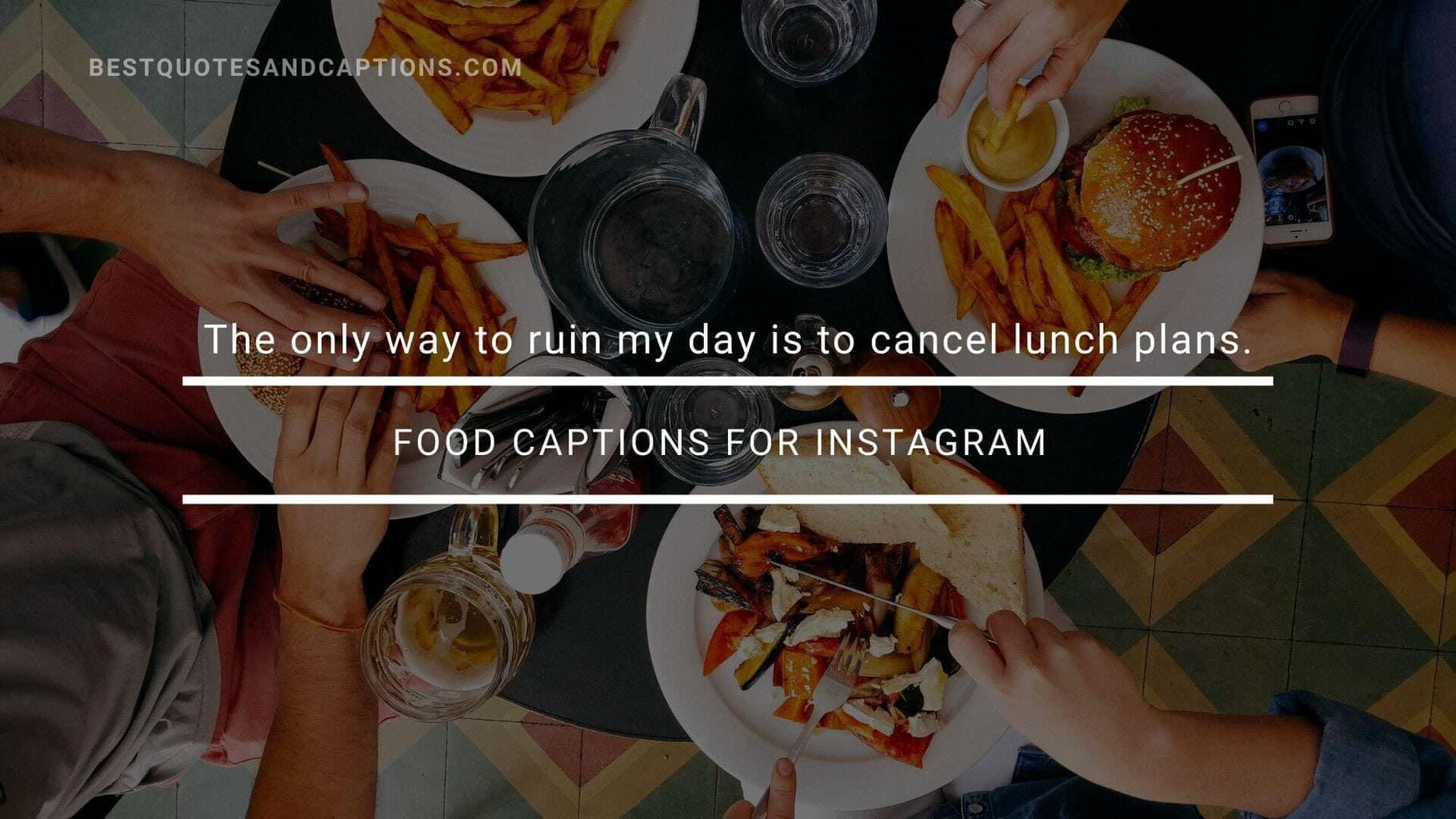 Lunch captions for Instagram