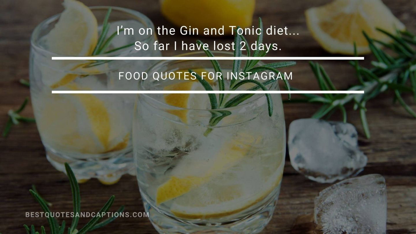 Gin and tonic diet quote