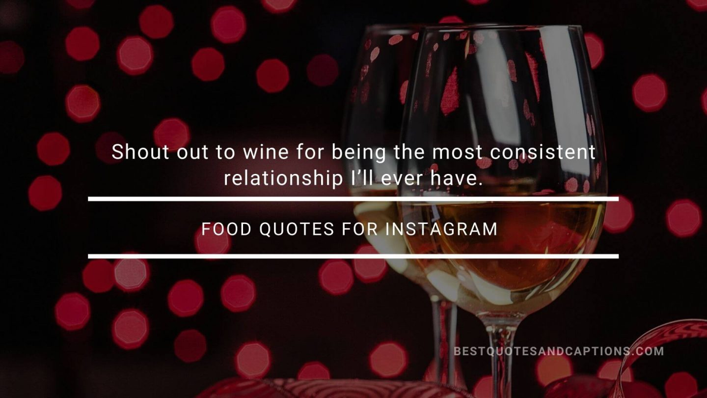 Short food quotes for Insta