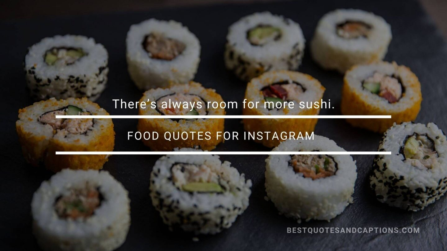 Sushi quotes for Instagram