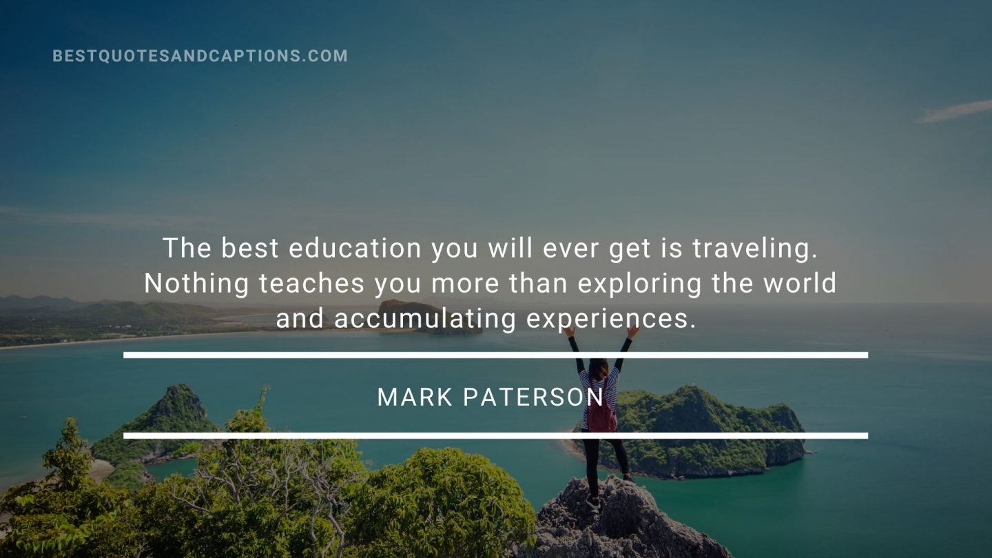 Travel with family quotes - Mark Paterson