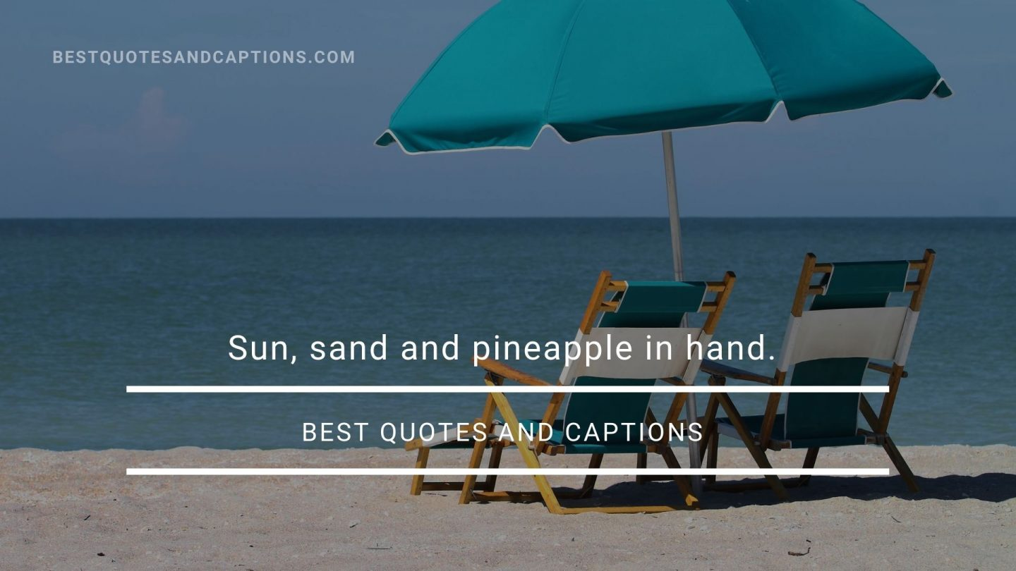 Hold the sun quotes - pineapple caption