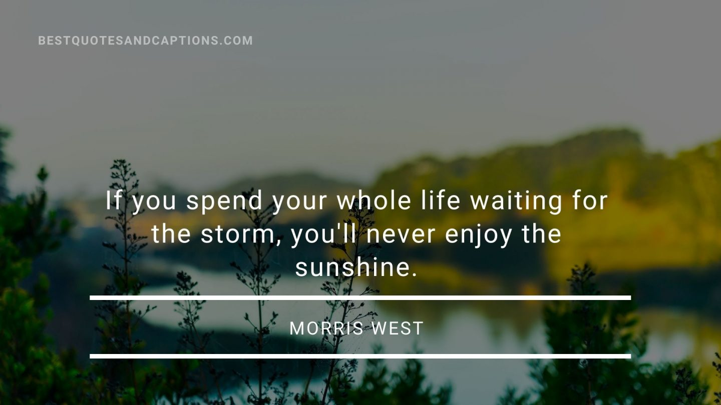Morning sun quotes - Morris West